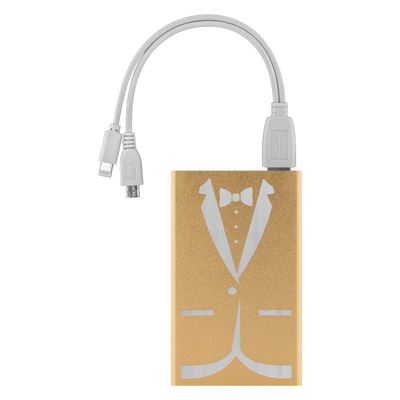 Tuxedo - Etched Portable Power Bank