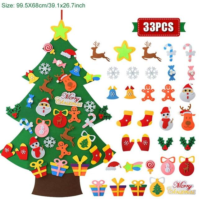 Kids DIY Felt Christmas Tree 2021 New Year Gifts