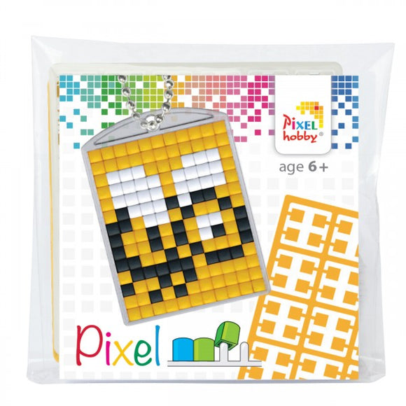 Pixelhobby Mosaic Bee Keyring Kit Keyring Including Chain Craft Kit