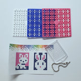 Pixelhobby Mosaic Bunny / Rabbit Keyring Including Chain Craft Kit