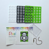 Pixelhobby Mosaic Cow Keyring Kit Keyring Including Chain Craft Kit