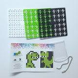 Pixelhobby Mosaic Dinosaur Keyring Kit Keyring Including Chain Craft Kit