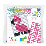 Pixelhobby Mosaic Flamingo Keyring Kit Keyring Including Chain Craft Kit