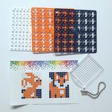 Pixelhobby Mosaic Fox Keyring Kit Keyring Including Chain Craft Kit