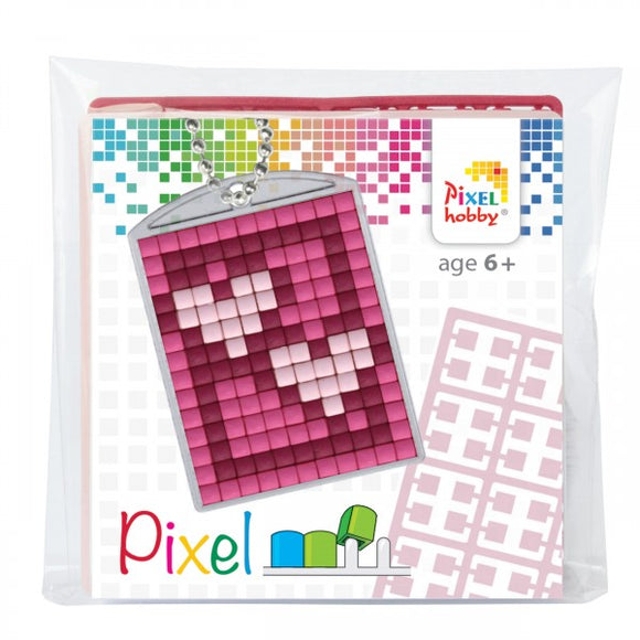 Pixelhobby Mosaic Hearts Keyring Kit Keyring Including Chain Craft Kit