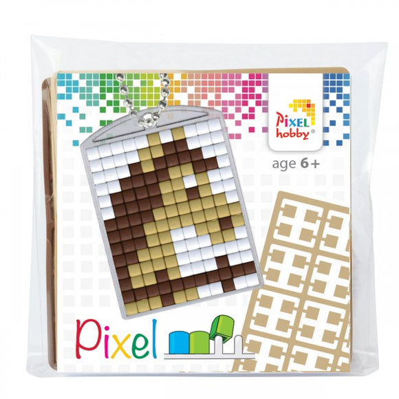 Pixelhobby Mosaic Horse Keyring Kit Keyring Including Chain Craft Kit