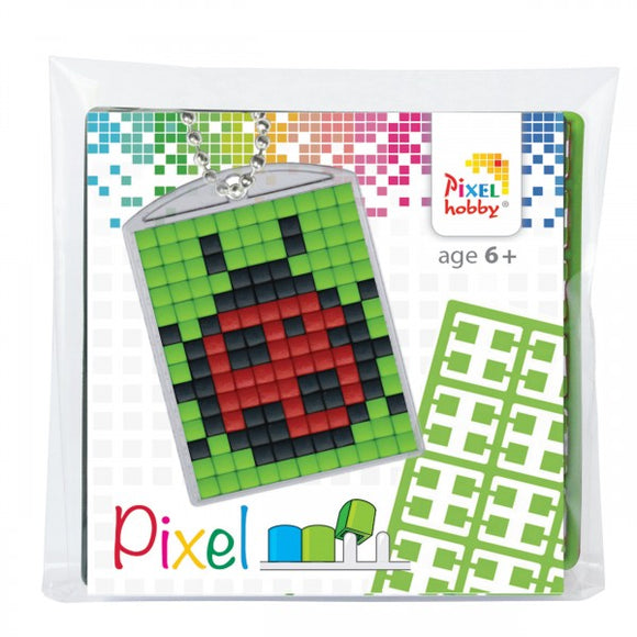 Pixelhobby Mosaic Ladybird Keyring Kit Keyring Including Chain Craft Kit