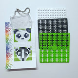 Pixelhobby Mosaic Panda Keyring Kit Keyring Including Chain Craft Kit