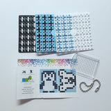 Pixelhobby Mosaic Penguin Keyring Kit Keyring Including Chain Craft Kit
