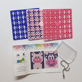 Pixelhobby Mosaic Pig Keyring Kit Keyring Including Chain Craft Kit