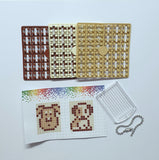 Pixelhobby Mosaic Puppy Keyring Kit Keyring Including Chain Craft Kit