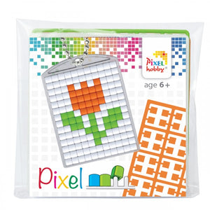 Pixelhobby Mosaic Tulip Keyring Kit Keyring Including Chain Craft Kit