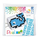 Pixelhobby Mosaic Whale Keyring Kit Keyring Including Chain Craft Kit