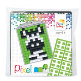 Pixelhobby Mosaic Zebra Keyring Kit Keyring Including Chain Craft Kit