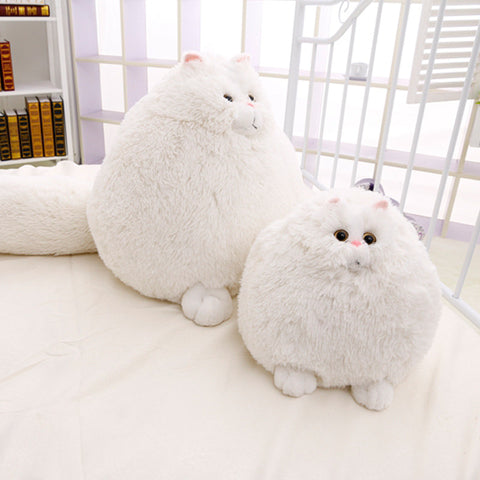 Stuffed Cat Soft And Comforting Plush Toy Animal White Big And Small