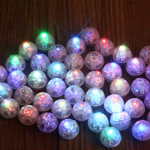 "(9) 10 Led Crystal light Balls, Pick your Color .55"" only $7 FREE SHIP -  $8 on Amazon plus ship"