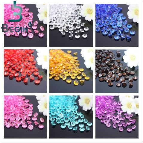 (8) 2000 Crystal Centerpiece Diamond Confetti 4.5mm only $5.99 FREE SHIP - $7 on Amazon plus ship