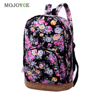 Chinese Style Flower Printed Backpack Women Canvas Large Capacity Colorful Street Travel Back Pack Bag Schoolbags - Zoid Deals