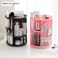 Makeup Organizer 360 Rotating Adjustable Storage Box Large Capacity Rack for Cosmetics Brushes - Zoid Deals