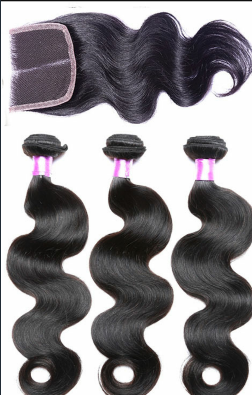 Brazilian Body Wave 3 Bundles w/Closure