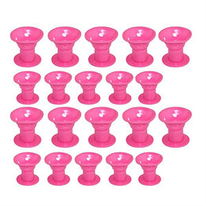 20pcs No Clip Silicone Soft Hair Roller for Wavy Curls