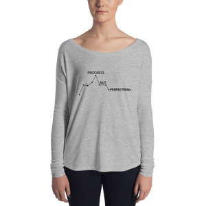 Progress Not Perfection Ladies' Long Sleeve Tee