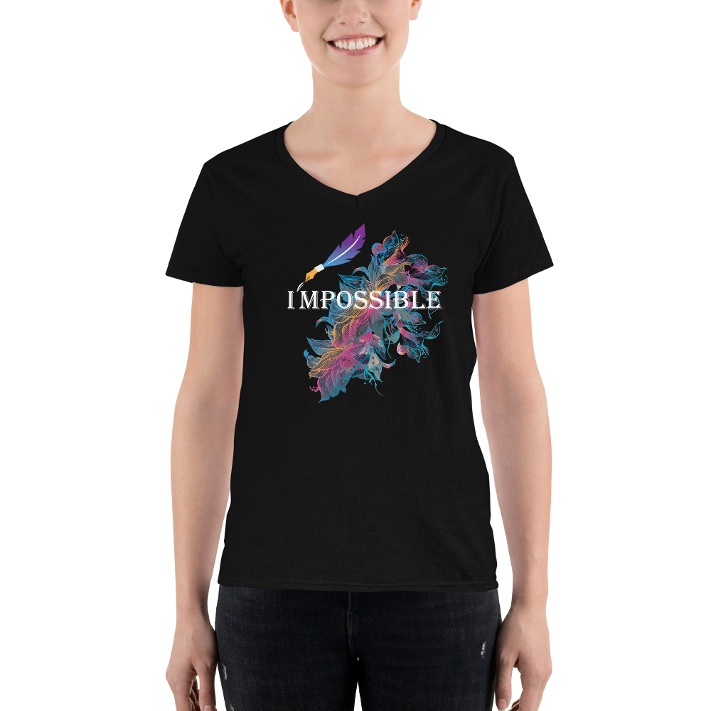 I'M POSSIBLE Women's V-Neck Shirt