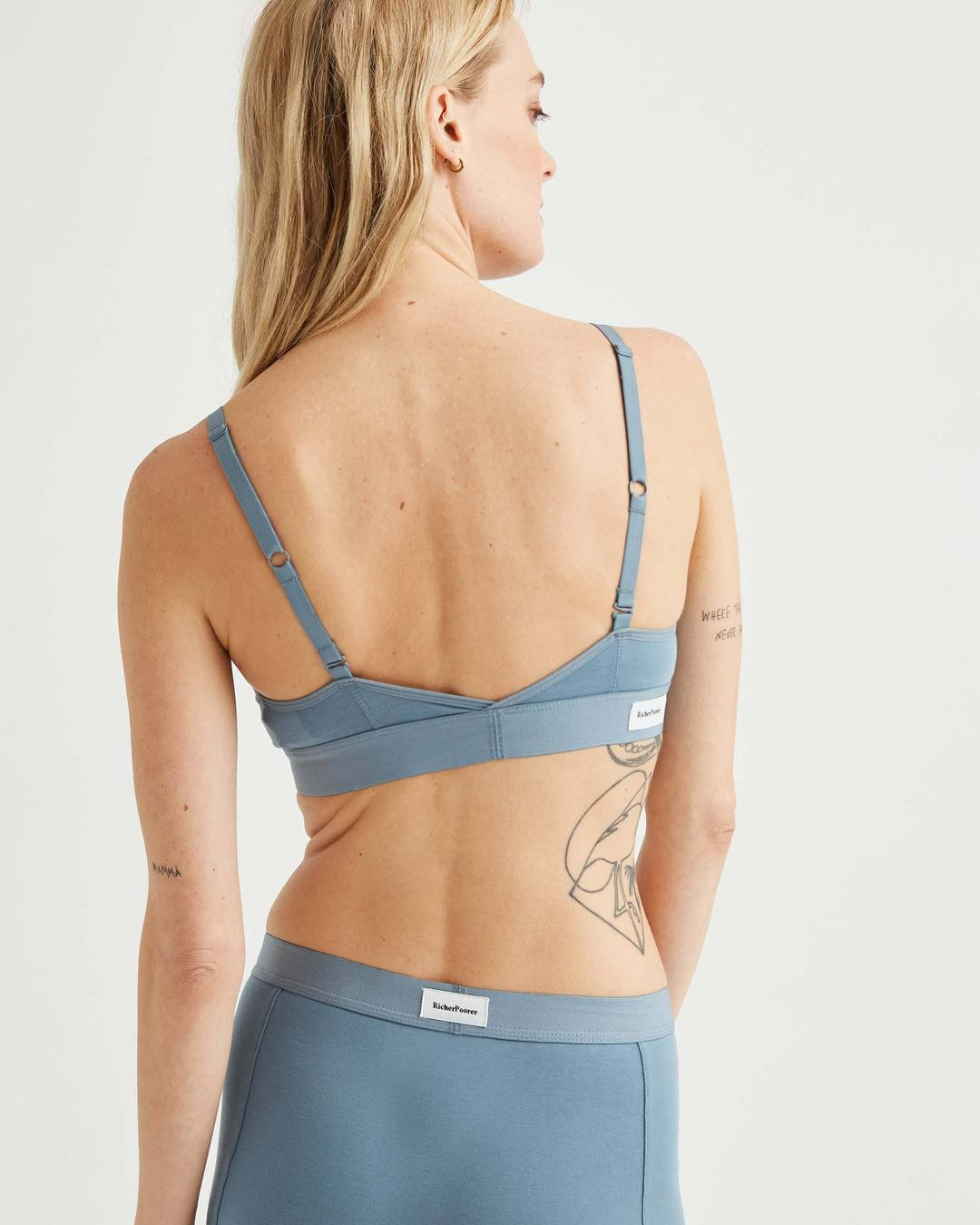 Cut Out Bralette- Blue Mirage