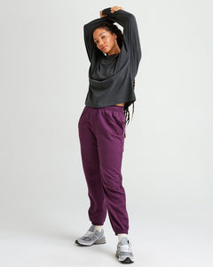 Recycled Fleece Sweatpant - Blackberry