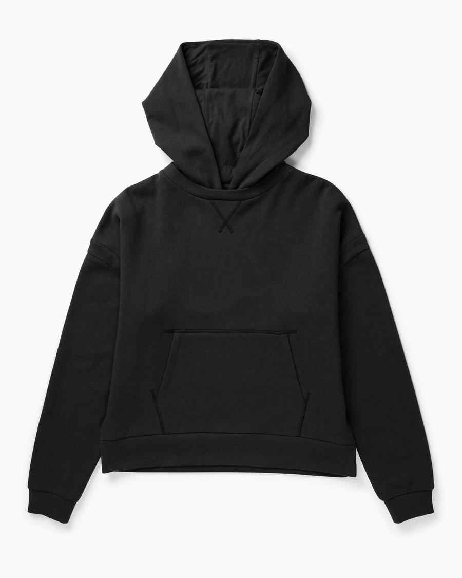 Recycled Fleece Hoodie- Black