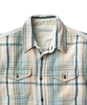 Blanket Shirt- Grey Mist Plaid