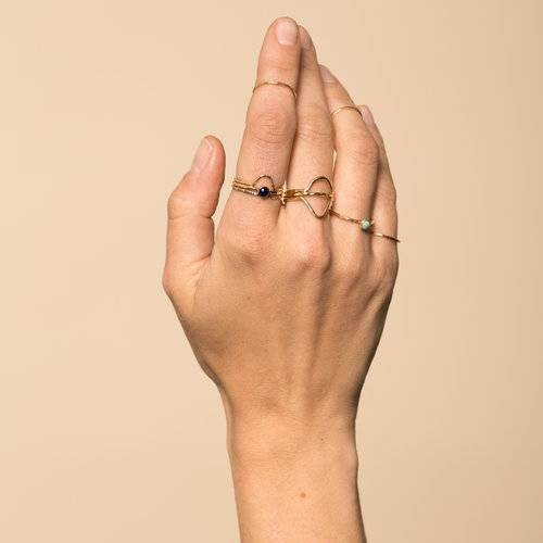 Hammered Stacking Ring- Gold Fill