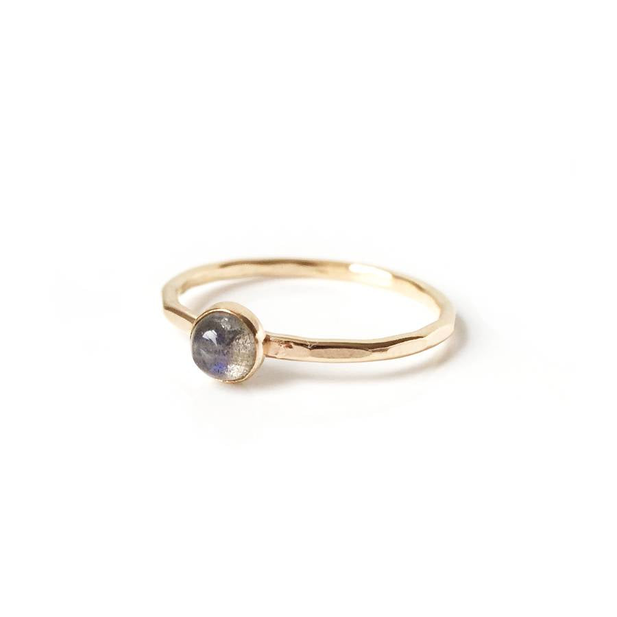 Labradorite Stone Stacking Ring