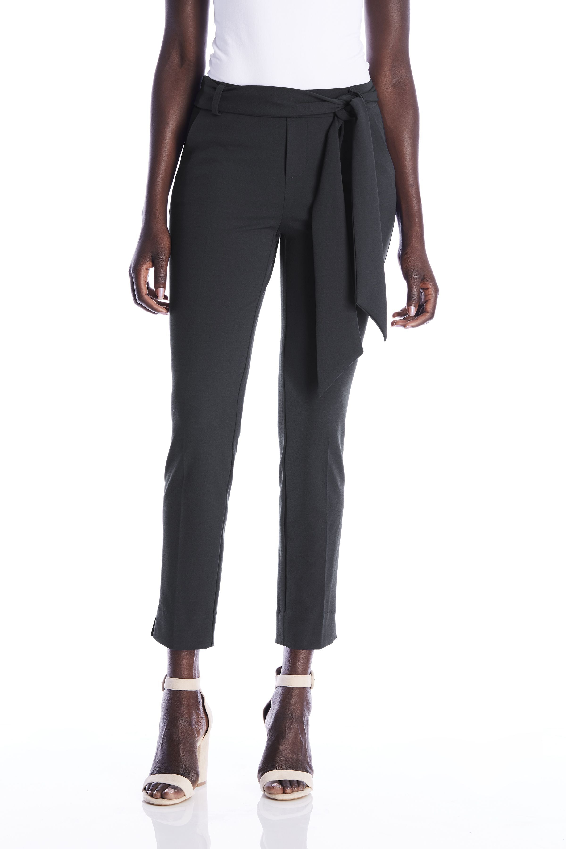 The Victoria Belted Trouser- Black