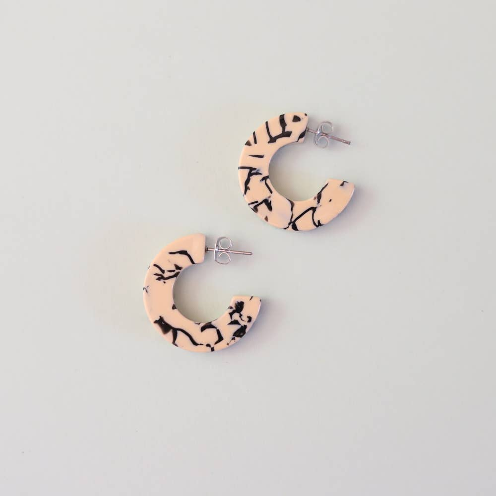 Ray Earrings- Marble