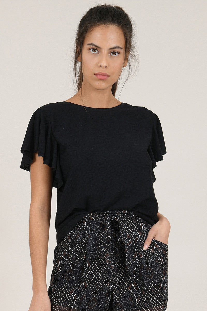 Ruffle Sleeves Top