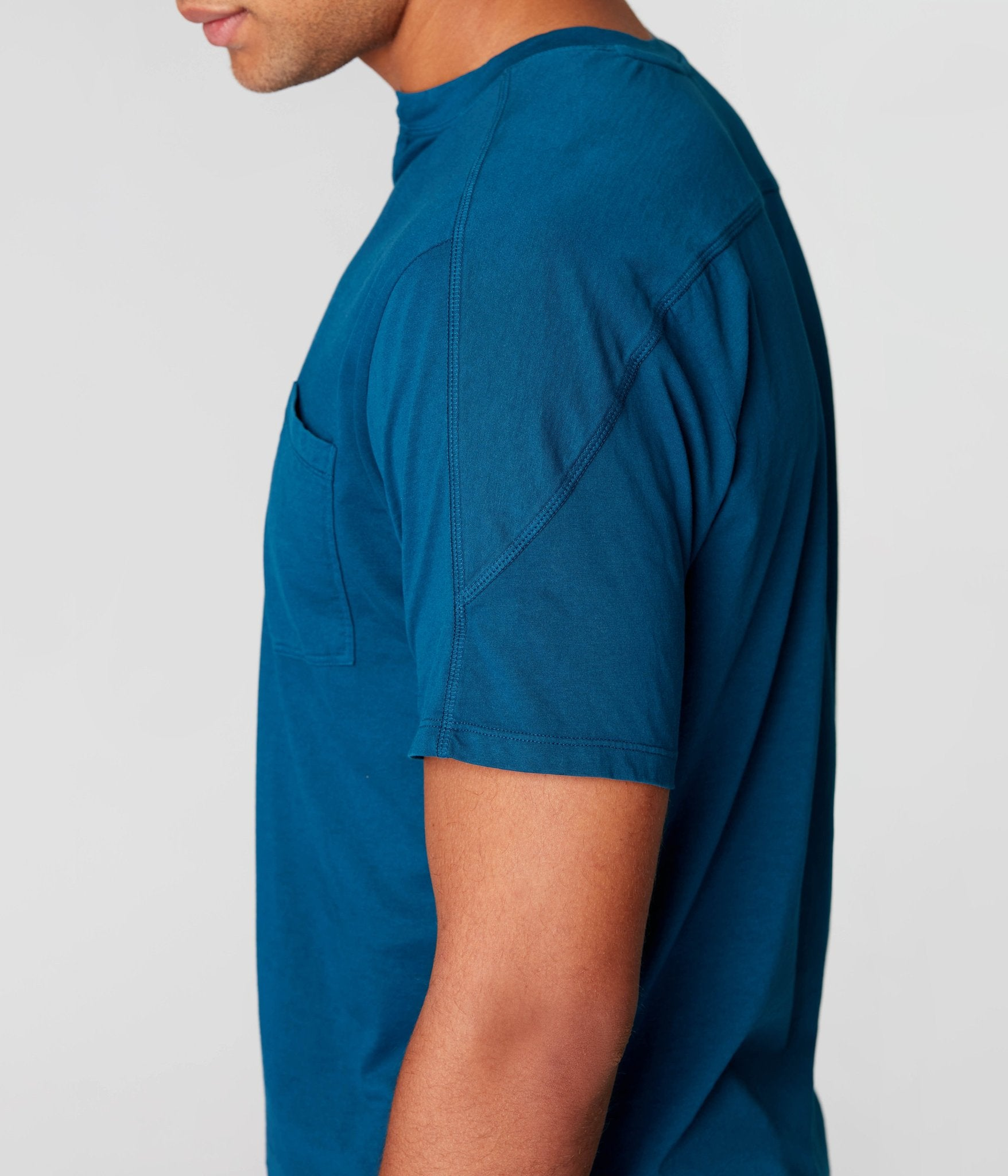 Short Sleeve Victory Notch Tee- Sea