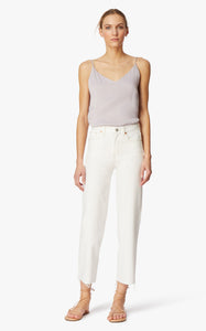 Haven High Rise Straight Ankle Jeans- Marshmallow