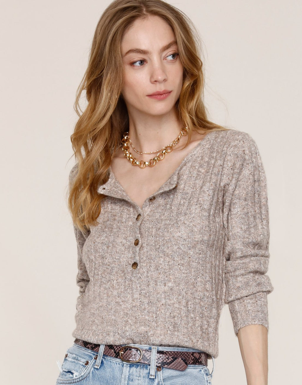 Lilah Sweater- Taupe