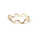 Ripple Stacking Ring - Gold