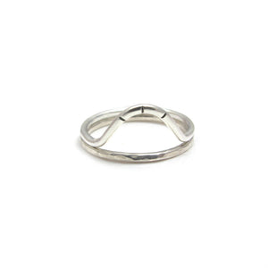 Arc Stacking Ring- Sterling Silver