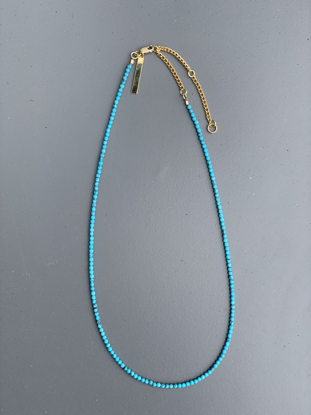 Small Beaded Necklace- Turquoise