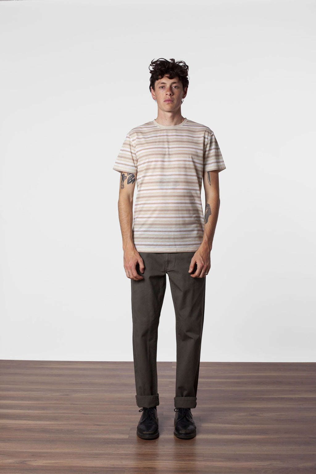 Everyday Stripe T-Shirt- Seaweed