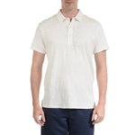 Madison Loose Knit Polo- Optic White