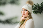 Shelley Relaxed Knit Beanie- Cream