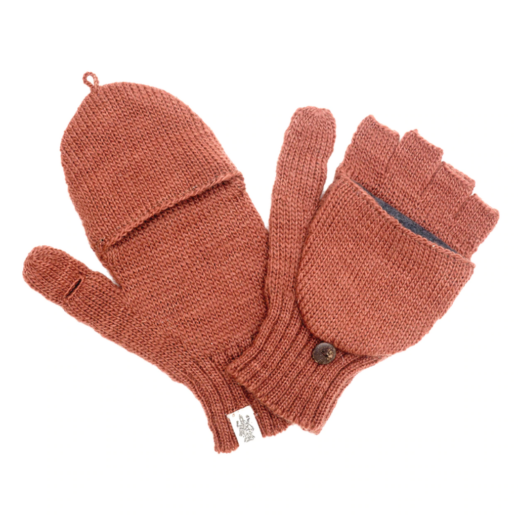 Bryant Fingerless Gloves- Rust