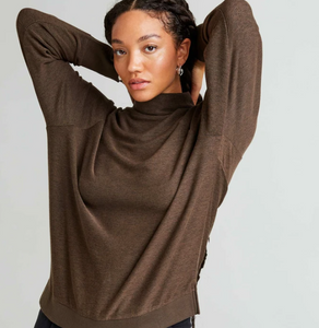 Cozy Knit Long Sleeve- Bitter Brown