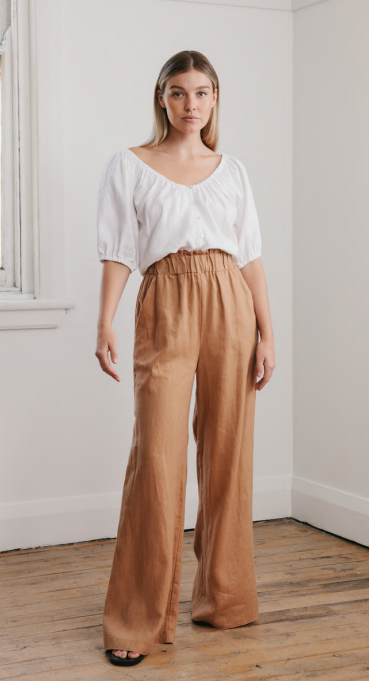 Wide Leg Pants- Rust