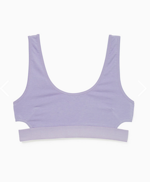 Scoop Bralette- Electric Violet
