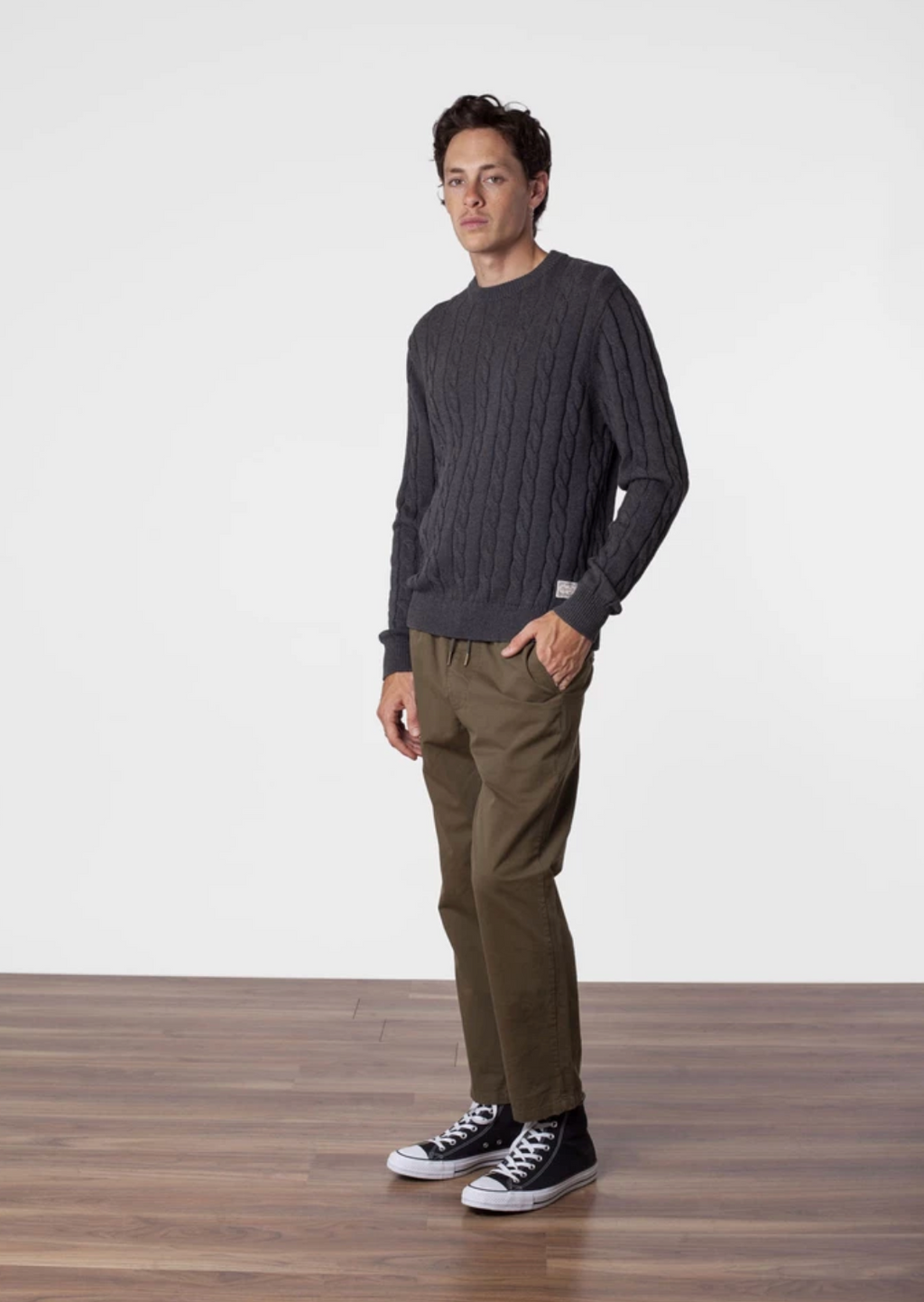 Fisherman Knit- Charcoal